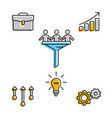 infographic icons showing business team work vector image vector image