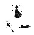 isolated object of party and birthday symbol vector image vector image
