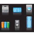 kitchen equipment icons vector image vector image