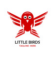 little birds logo four vector image