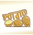 logo for potato vector image vector image