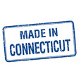 made in Connecticut blue square isolated stamp vector image vector image