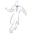 man wearing retro clothes dancing charleston ink vector image vector image