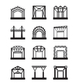 Metal structures icon set vector image vector image