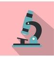 Microscope modern flat icon vector image vector image