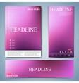 Modern multicolored template brochure magazine vector image