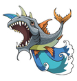 monster fish vector image