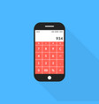 phone with calculator app and shadow vector image vector image