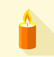 romance candle icon flat style vector image