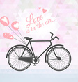 romantic bicycle with balloons vector image