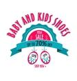 sale label for shoes kids stores Mega sale badge vector image vector image