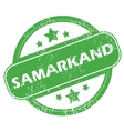 Samarkand green stamp vector image vector image