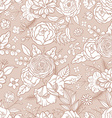 seamless pattern with different flowers vector image vector image