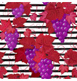 seamless pattern with grape on strips summer vector image