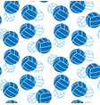 seamless volleyball pattern vector image