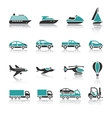Set of transport icons - One vector image vector image