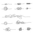 set random chaotic lines vector image vector image
