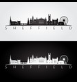 sheffield skyline and landmarks silhouette vector image vector image