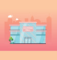 shopping mall building exterior flat design style vector image vector image