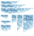 Snowflakes Christmas Web Banners Retro Blue vector image vector image