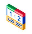 soccer scoreboard isometric icon vector image vector image