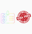 spectrum dotted dollar badge icon and vector image vector image