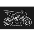 Sport superbike motorcycle vector image vector image