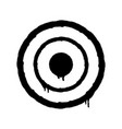 sprayed target icon graffiti overspray in black vector image