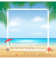 Summer beach party summer vacation background vector image vector image