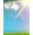 Sun on a blue sky vector image vector image