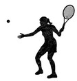 tennis woman player silhouette vector image vector image
