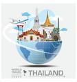 Thailand Landmark Global Travel And Journey vector image vector image