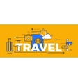 Travel Concept Design Abstract Flat vector image