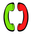 two handsets icon icon cartoon vector image
