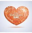 Valentine sparkle golden love heart vector image