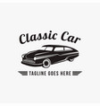 vintage retro hipster logo classic car vector image
