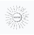 Vocation Inspirational summer vector image vector image