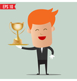 Waiter serve winner champion cup - - EPS10 vector image vector image