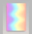 wavy iridescent gradient backdrop vector image vector image