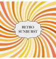 With retro sunburst background