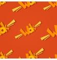 Wok logo seamless pattern vector image vector image