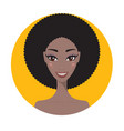 young african american woman fresh and happy vector image