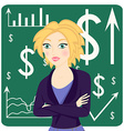 Business woman wearing a suit vector image