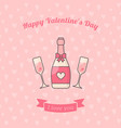champagne glasses and bottle vector image