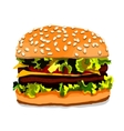 Hand drawn hamburger isolated on white background vector image