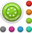 100 Natural award vector image vector image