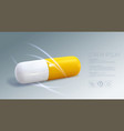 3d medical capsule pill vector image vector image