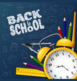back to school with school supplies and doodles on vector image vector image