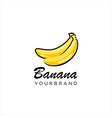 banana logo design inspiration vector image