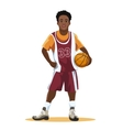 Basketball player in uniform vector image